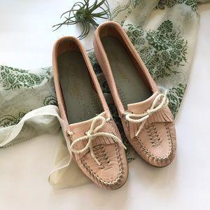 Vtg Hampshires Pink Moccasins Slip on Loafers 8